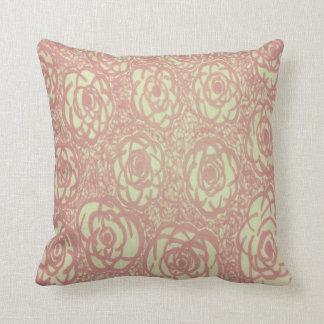 Hübsches rosa Rosen-Musterthrow-Kissen Kissen
