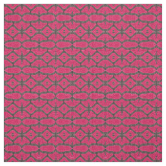 Hübsches rosa schwarzes Muster Stoff