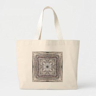 Hübsches Rosa tönte Azteke inspiriertes Muster Jumbo Stoffbeutel