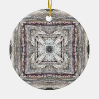 Hübsches Rosa tönte Azteke inspiriertes Muster Keramik Ornament