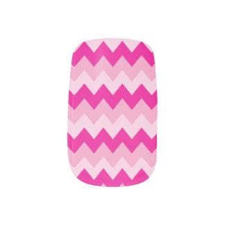 Hübsches rosa Zickzack Muster Minx Nagelkunst