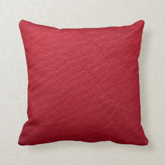 Hübsches rotes Imitat-lederne Beschaffenheit Kissen