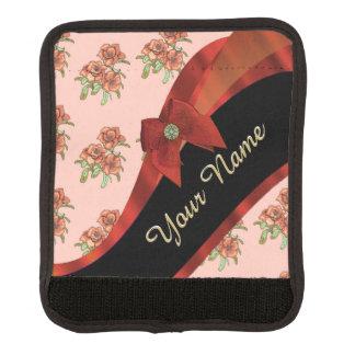 Hübsches rotes Vintages BlumenBlumenmuster Gepäck Markierung