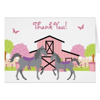 Hübsches Scheunen-Pferd danken Ihnen Karten