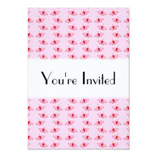 Hübsches Schmetterlings-Muster im Rosa und im Rot 12,7 X 17,8 Cm Einladungskarte
