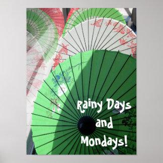 Hübsches Sonnenschirm-Plakat Poster