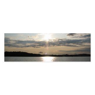 Hübsches Sonnenuntergang-Lesezeichen Jumbo-Visitenkarten
