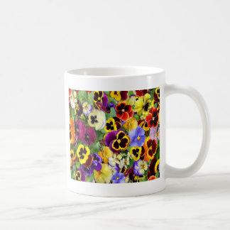Hübsches Stiefmütterchen Kaffeetasse