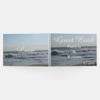 Hübsches Strand-und Sand-blauer Gästebuch
