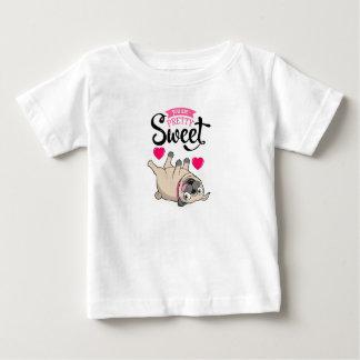 Hübsches süßes Mops-Liebhaber-Shirt Baby T-shirt