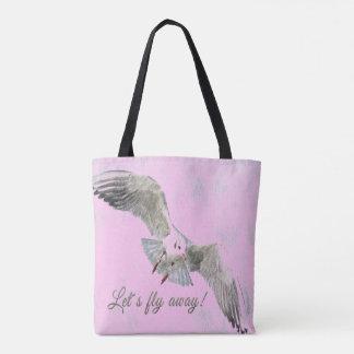 """Hübsches Vogelrosa """"ließ uns wegTaschentasche Tasche"""