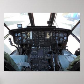 Hubschrauber-Cockpit Poster