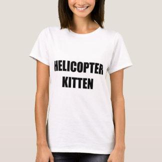 Hubschrauber-Kätzchen-T - Shirt