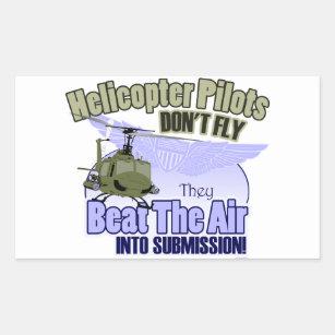 Hubschrauber Piloten Fliegen Nicht Uh 1 Rechteckiger Aufkleber