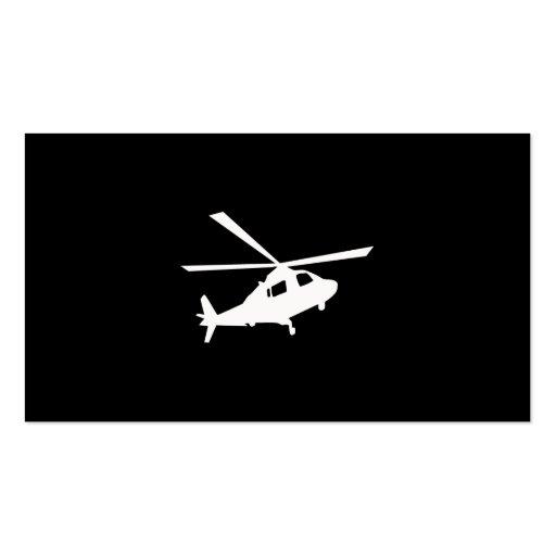 Hubschrauber-Piloten Visitenkarten Vorlage