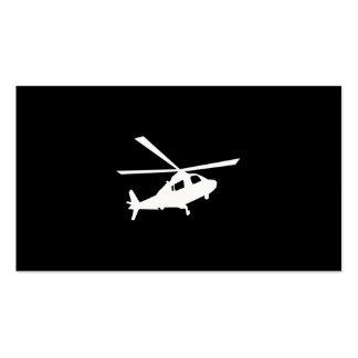 Hubschrauber-Piloten Visitenkarten