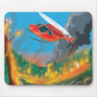 Hubschrauber-Rettung Mauspads