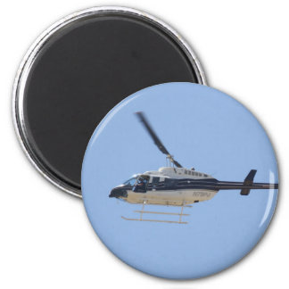 Hubschrauber Runder Magnet 5,7 Cm