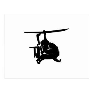 Hubschrauber-Silhouette Postkarten