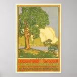 Hudson See-Vintages Reise-Plakat