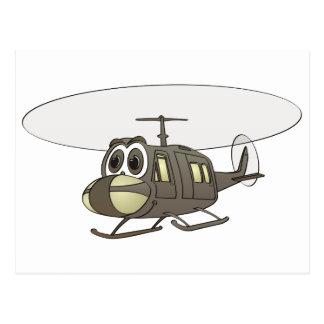 Huey Hubschrauber-Cartoon Postkarten