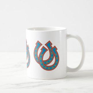 Hufeisen in Blauem und in Rotem Kaffeetasse