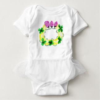 Hufeisen mit Klee Baby Strampler