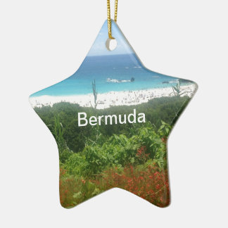 Hufeisenbucht-Strand, Bermuda Keramik Ornament