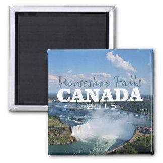 Hufeisenfall-Kanada-Reise-Magnet-Änderungs-Jahr Quadratischer Magnet
