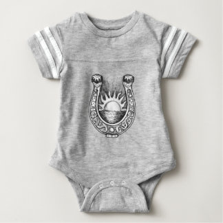 Hufeisensun- und Seetätowierung Baby Strampler