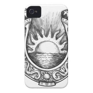 Hufeisensun- und Seetätowierung Case-Mate iPhone 4 Hülle