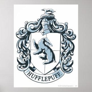 Hufflepuff Wappen-Blau Poster