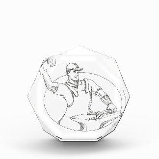 Hufschmied-ausübende Hammer-ovale Gekritzel-Kunst Acryl Auszeichnung