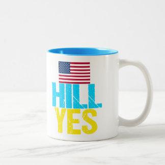 Hügel ja moderne Hillary Clinton Zweifarbige Tasse