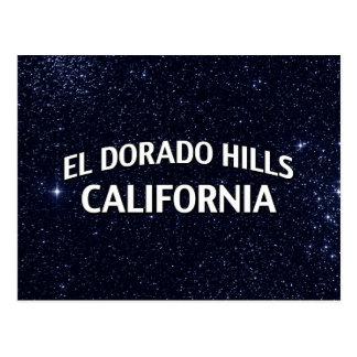 Hügel Kalifornien EL Dorado Postkarte