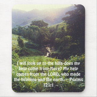 Hügel, schaue ich oben zu Hügel-tue meine Hilfe… Mauspad