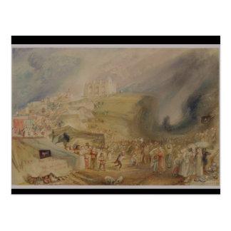 Hügel St. Catherine, Guildford, Surrey, 1830 (w/c Postkarte