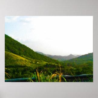 Hügel von Puerto Rico Poster