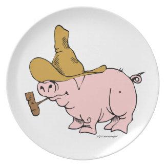 Hügeliges Schwein Teller