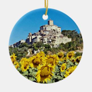 Hügelstadt von Narni, Blumen Umbriens, Italien Keramik Ornament