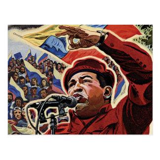 Hugo Chavez - Cartoon-Revolutionsart Postkarte