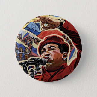 Hugo Chavez - Cartoon-Revolutionsart Runder Button 5,7 Cm