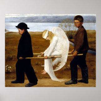 Hugo Simerg der verletzte Engel Poster