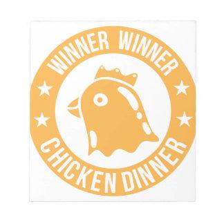 Huhn-Abendessen Notizblock