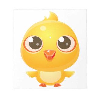Huhn-Baby-Tier in der Girly süßen Art Notizblock