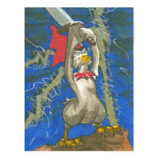Huhn der Barbar Postkarte
