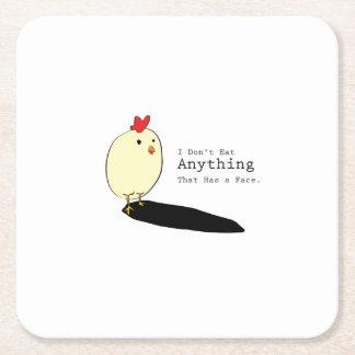 Huhn-Ei-Vegetarier s esse ich nicht Anythings Rechteckiger Pappuntersetzer