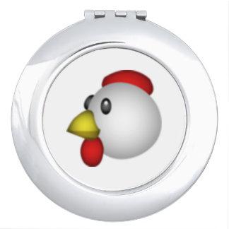 Huhn - Emoji Taschenspiegel