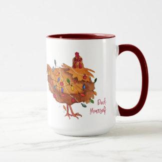 Huhn-Feiertags-Tasse der Plattform-sich Tasse