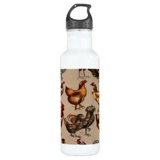 Huhn-Geflügel der Welt Edelstahlflasche